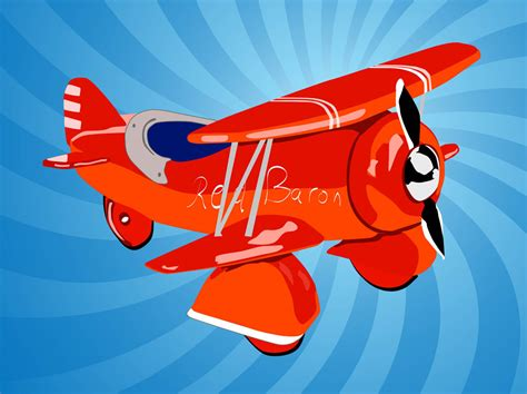 Airplane Cartoon Vector Art & Graphics