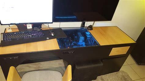 bureau pc intégré desk mod air cooling pc intégré au bureau bureau