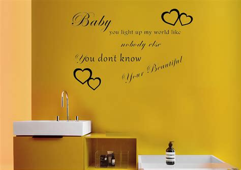 baby you light up my world 1d white text quotes wall