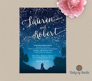starry night wedding invitation and rsvp set by With vistaprint blush wedding invitations