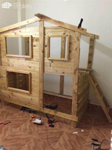 outstanding pallet kids bunk beds  playhouse