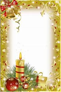 Christmas Frame Gold Candle transparent PNG - StickPNG