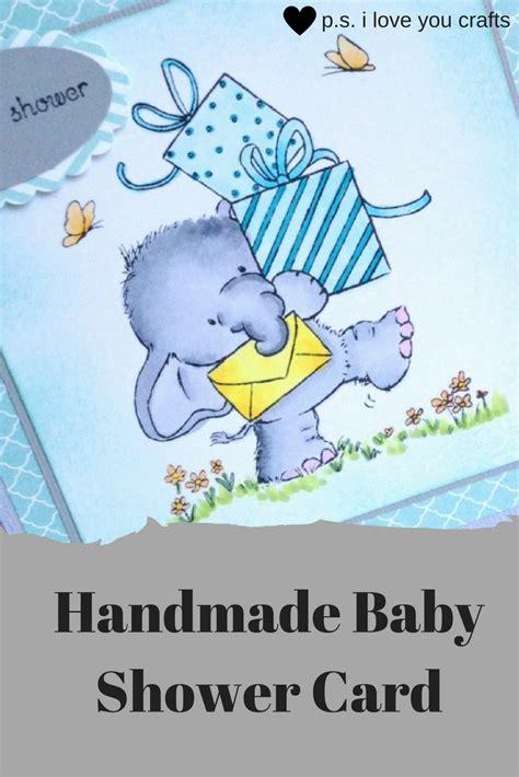 handmade baby shower card  inspiration vault