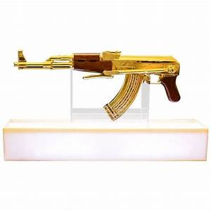 Ak-47 Gold Numbered and Limited Edition Art Sculpture ...
