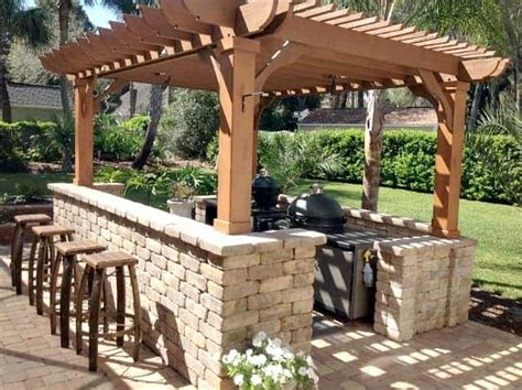outdoor kitchen pergola ideas pergolas   outdoor