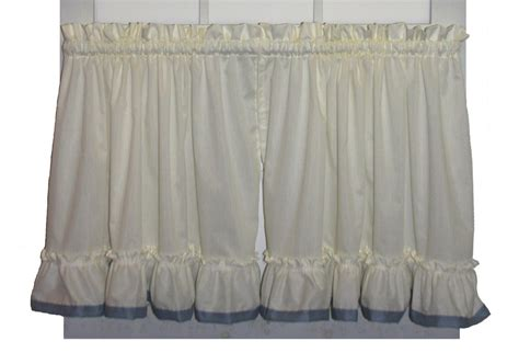 Lucy Country Ruffled Priscilla Window Curtains With Banded Edge Ruffle And Tie Backs How To Make Bathroom Shower Curtains Wave Pleat Curtain Tape 60 Double Curved Rod Many Yards Of Fabric Do I Need For A Tension Target Water Resistant Outdoor Bamboo Panels In Dark Brown Extender From Wall Attach Window Frame