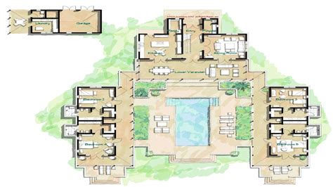hacienda style home floor plans spanish style homes  courtyards island home floor plans
