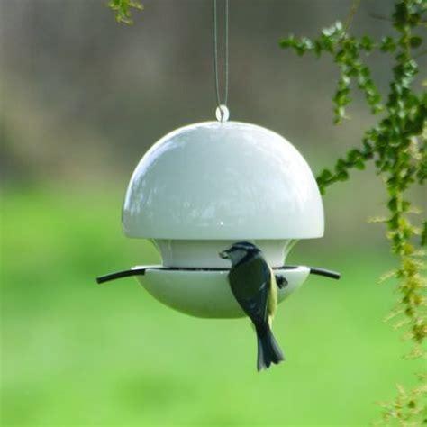 Ceramic ball bird seed feeder from le petit jardin