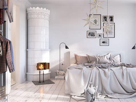 chambre toute blanche décoration blanche dans un appartement rénové