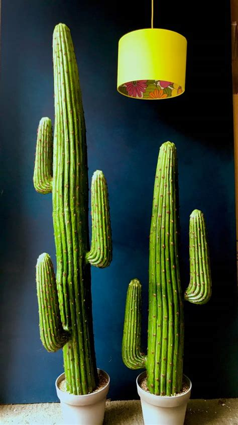 large faux saguaro artificial cactus  arms love frankie