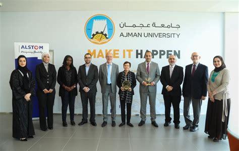 ajman university signs mou alstom