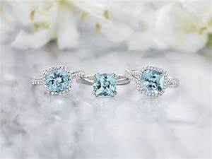 8 gorgeous aquamarine engagement rings brilliant earth for Wedding rings aquamarine