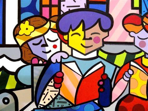 quadro pintura em tela fam 237 lia romero britto r 660 00 em mercado livre