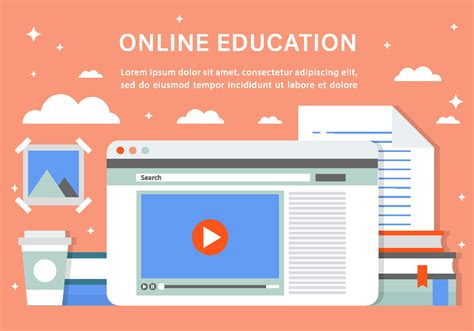 Free Online Education Vector Background