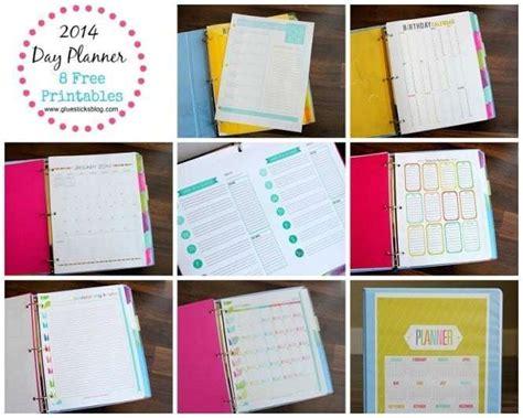 day planner  printables gluesticks
