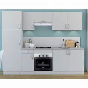 Meuble Cuisine Blanc : meuble de cuisine blanc colonne 2 portes nova dya ~ Edinachiropracticcenter.com Idées de Décoration