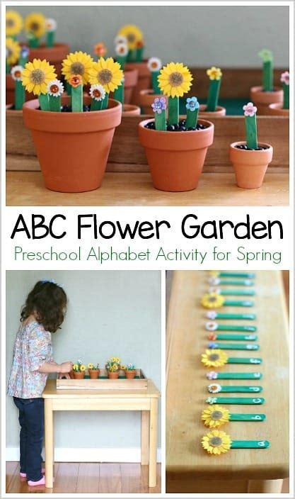 alphabet activities for alphabet flower garden 294 | abc pin