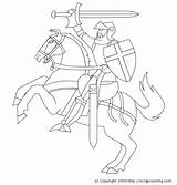 Knight Coloring Pages Horse Credit Larger sketch template