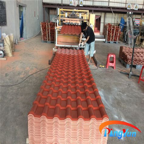 pvc plastic roofing tiles synthetic tile roofing plastic
