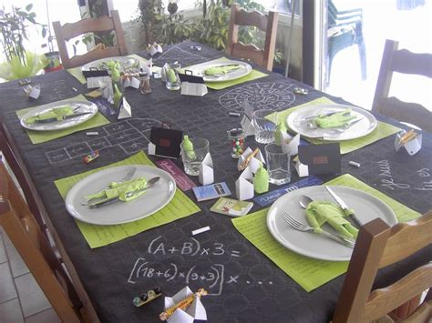 decoration de table ecole
