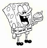 Spongebob Coloring Printable Sponge Bob Sheets Colouring Characters Drawings sketch template