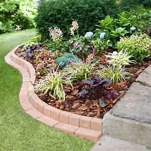 Edging, Landscape, Patio, Flower, Bed, Curved, Brick, Garden, Border, Better, Homes, Gardens, Ideas