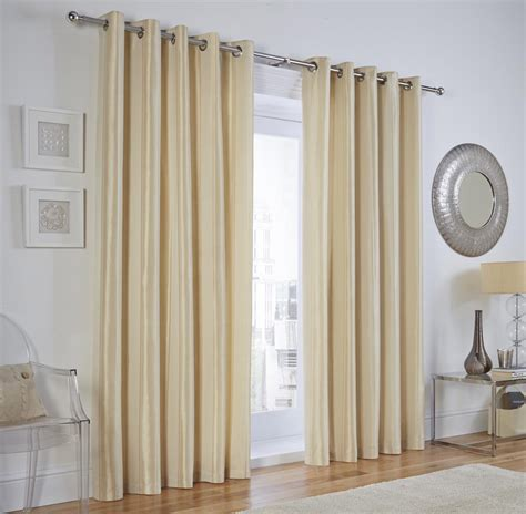 luxury interlined faux silk eyelet curtains