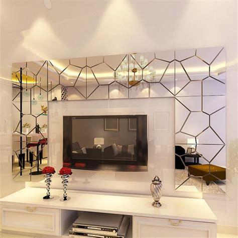 cm pcs diy acrylic modern mirror decal art mural wall