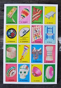 Vintage Mexican Loteria Cards
