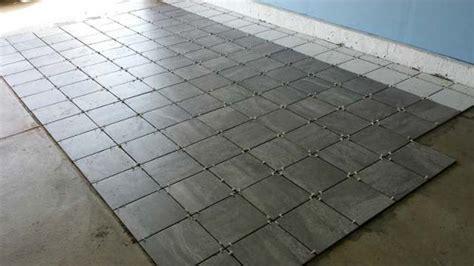 garage flooring tiles a porcelain tile garage floor installation and review