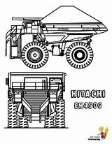 Truck Coloring Dump Pages Hitachi Construction Trucks Dirty Boys Yescoloring sketch template