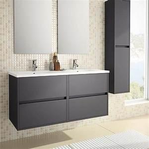 meuble salle de bain 120 cm 4 tiroirs plan vasque With meuble salle de bain double vasque 120