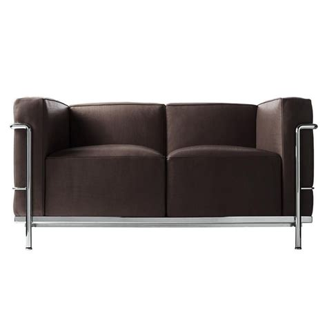 le corbusier lc2 canap 233 deux places cassina ambientedirect
