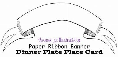 Banner Printable Templates Paper Place Dinner Plate