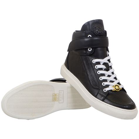 High Top by Versace Versus Leather Black High Top Trainers