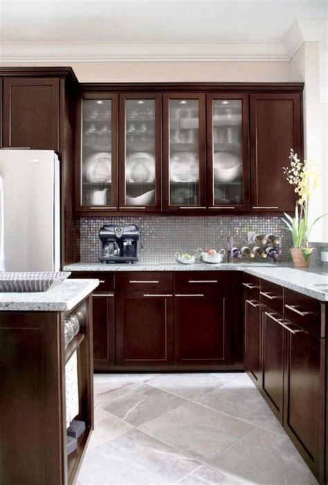 espresso kitchen cabinets   sleek  cool designs