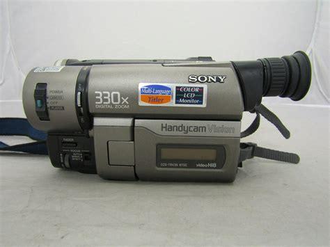 vision camcorder sony handycam vision ccd tvr36 hi8 bundle ebay