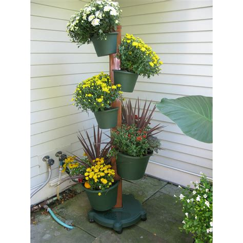 Vertical Gardening System by My Garden Post 5 Planter Vertical Gardening System