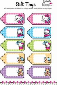 Hello Kitty Printable Tags Hello Kitty Gift Tags Free