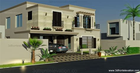 3D Front Elevation.com: 1 Kanal Spanish House Design PLan