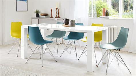 White Gloss Dining Table by Fern White Gloss Extending Dining Table Danetti Uk