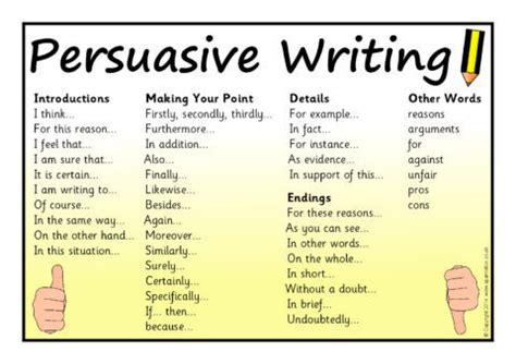 persuasive writing word mat sb sparklebox
