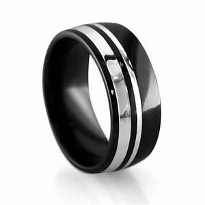 Mens Wedding Bands Alpha Rings