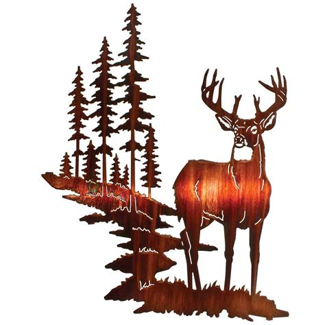 lazart whitetail deer wall art honey pinion 207990 wall art at sportsman 39 s guide