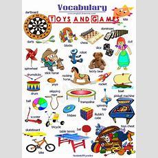 English Vocabulary  Toys And Games  Easy English  Английский язык, Английский словарь и