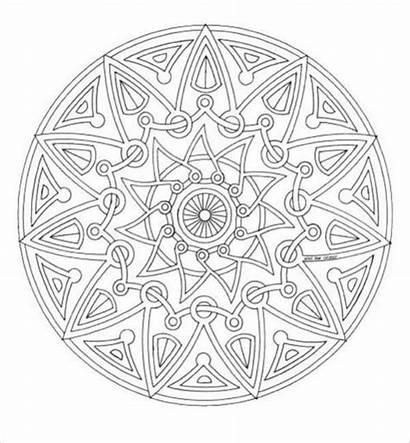 Mandala Coloring Geometric Pages Unique Designs