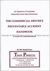 Commercial Driver U2019s Preventable Accident Handbook A Guide