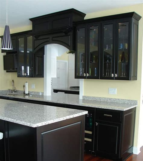 black cabinetry  elegant kitchen  decoration channel