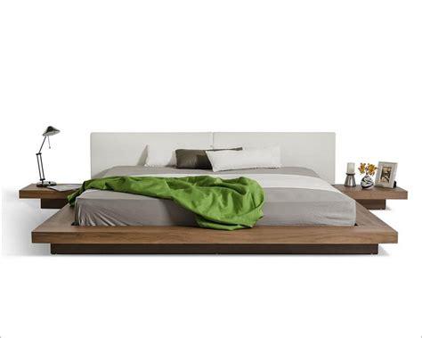 profile grey white leatherette platform bed bbd