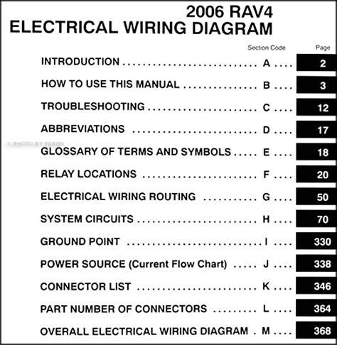 2006 toyota rav4 wiring diagram manual original